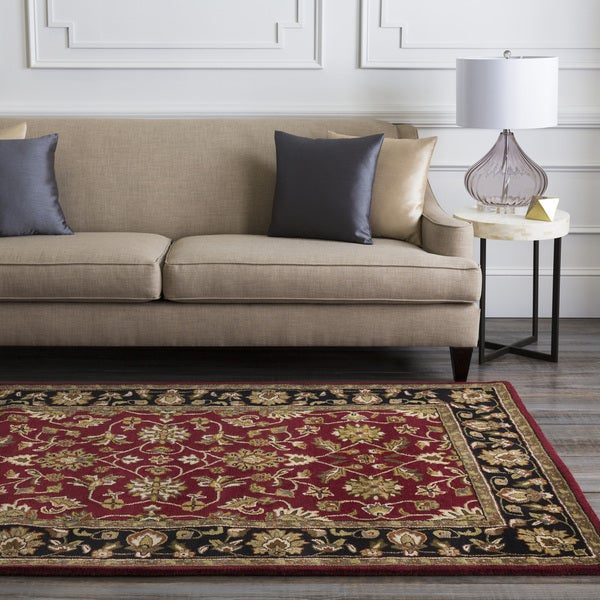 Hand-Tufted Camelot Collection Wool Floral Rug (6' x 9')