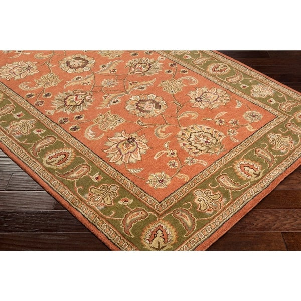Shop Hand Tufted Camelot Collection Oriental Wool Area Rug 2 6 X