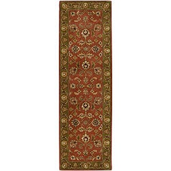 """Hand-Tufted Camelot Collection Oriental Wool Rug (2'6"""" x 8')"""