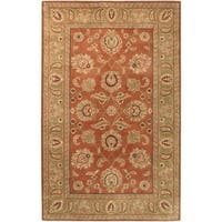 Hand-Tufted Camelot Collection Traditional Wool Area Rug - 5' x 8'