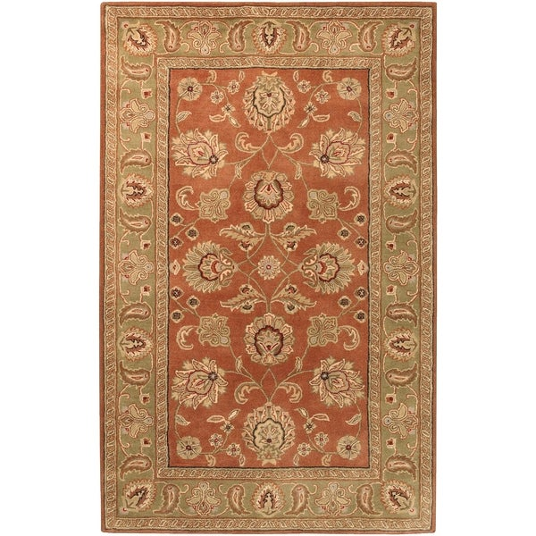 Hand-tufted Camelot Collection Wool Area Rug - 6' x 9'