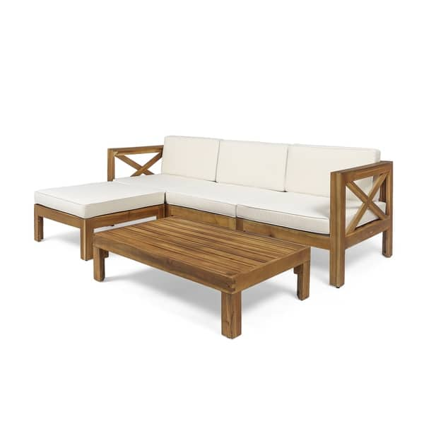 Astonishing Shop Alcove Outdoor Acacia Wood 5 Piece Sofa Set By Forskolin Free Trial Chair Design Images Forskolin Free Trialorg