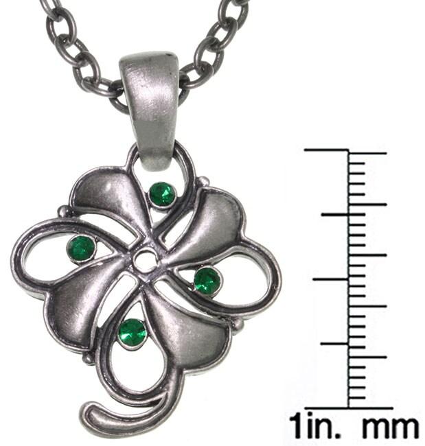 Carolina Glamour Collection Four Leaf Clover Pewter Unisex Necklace