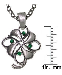 Carolina Glamour Collection Four Leaf Clover Pewter Unisex Necklace