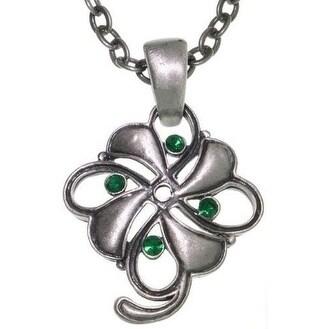 Four Leaf Clover Pewter Unisex Necklace
