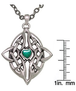 Carolina Glamour Collection Celtic Infinity Heart Pewter Necklace