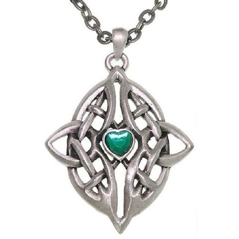 Celtic Infinity Heart Pewter Necklace