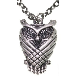 Wise Owl Pewter Unisex Necklace
