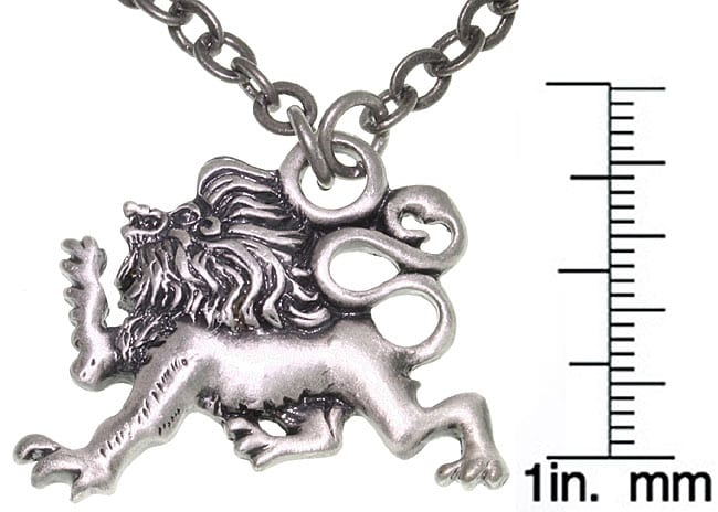 Carolina Glamour Collection Lion Of Protection Pewter Unisex Necklace