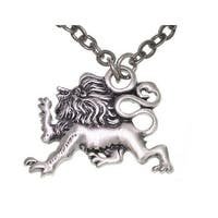 Lion Of Protection Pewter Unisex Necklace