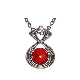 Celtic Dragon Energy Pewter Unisex Necklace