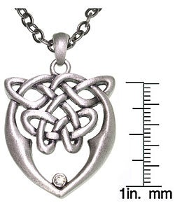 Carolina Glamour Collection Pewter Unisex Celtic Love and Unity Knot Necklace