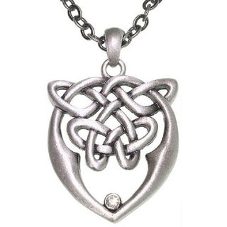 Pewter Unisex Celtic Love and Unity Knot Necklace