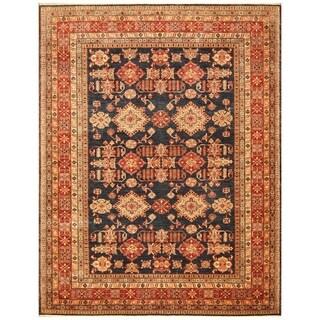 Handmade Vegetable Dye Super Kazak Wool Rug (Afghanistan) - 8' x 10'4