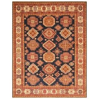Handmade Vegetable Dye Super Kazak Wool Rug (Afghanistan) - 8' x 10'2