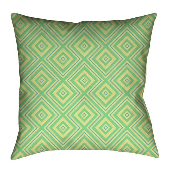 Katelyn Elizabeth Green Blue Square Lattice Pillow Cover Only Faux Suede Free Shipping Today 26476921