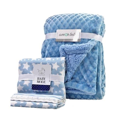 5 Piece Baby Blanket Gift Set