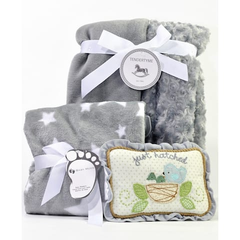 Gray Baby Blanket Gift Set
