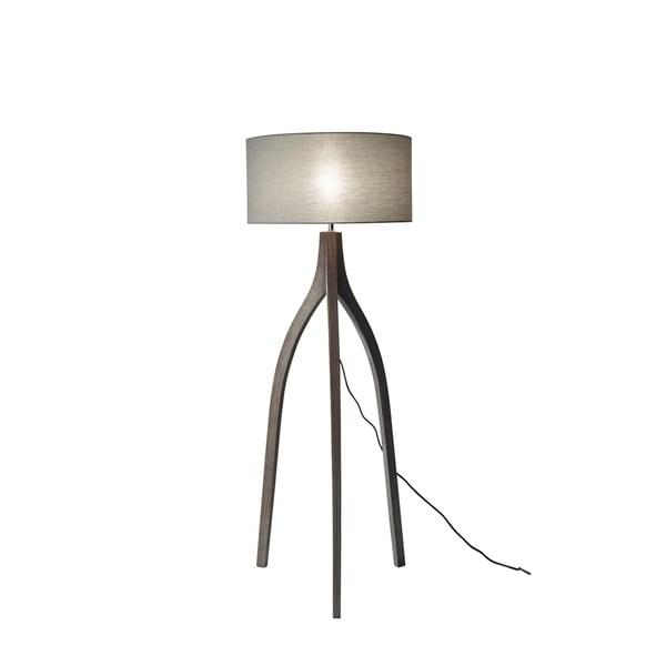 Carson Carrington Riga Adjustable Washed Pine Wood Black Tripod Floor Lamp