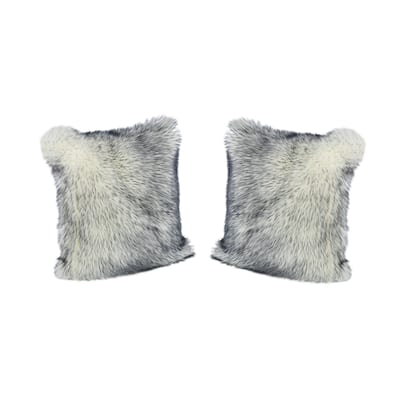Carnation Faux Fur Long Hair Pillow Cover Only (Set of 2) by Christopher Knight Home