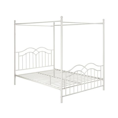 Earhart Traditional Iron Canopy Queen Bed Frame by Christopher Knight Home