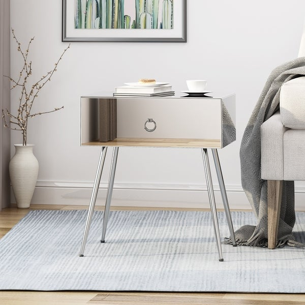 Corregidor Modern Mirrored Accent Table by Christopher Knight Home