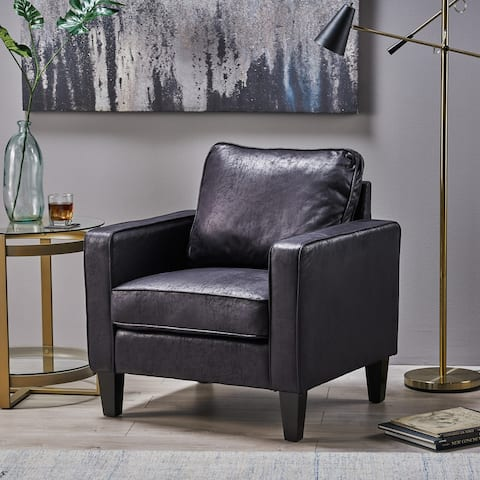 Beeman Contemporary Microfiber Club Chair by Christopher Knight Home