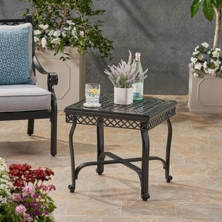 Westlake Outdoor Aluminum Side Table by Christopher Knight Home