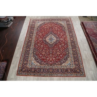 """Hand Knotted Najafabad Vintage Persian Classical Floral Area Rug - 13'2"""" x 9'10"""""""