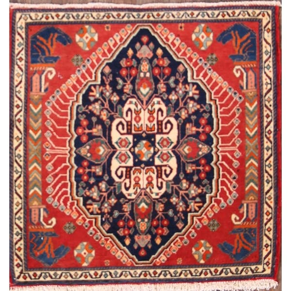 Small Ter Size Antique Square Persian Sultanabad Rug Country Of Origin Persia Circa Date Early 20th Century