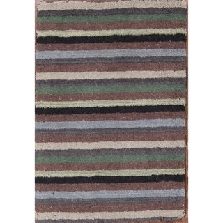 "Gabbeh Hand tufted Oriental Striped Area Rug Wool - 2'10"" x 2'0"""