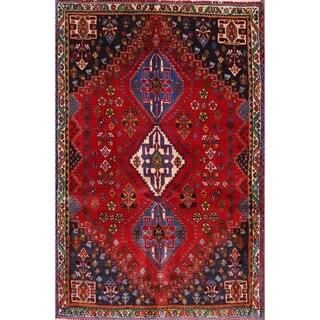 "Vintage Handmade Traditional Abadeh Shiraz Persian Tribal Area Rug - 5'0"" x 3'5"""