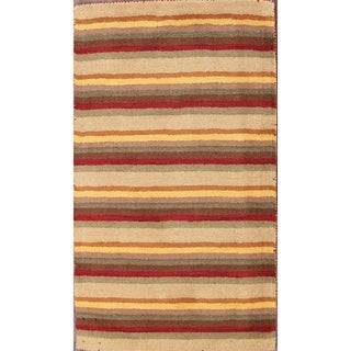 """Hand Tufted Wool Traditional Gabbeh Oriental Area Rug Tribal Carpet - 4'6"""" x 2'6"""""""