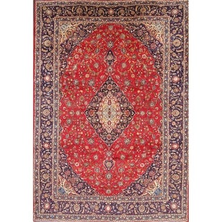 """Vintage Kashan Traditional Persian Hand Made Medallion Area Rug Red - 13'10"""" x 9'9"""""""