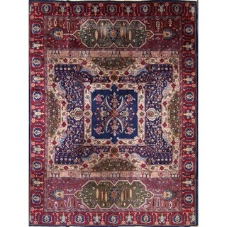 "Antique Agra Oriental Hand Knotted Wool Floral Area Rug - 11'8"" x 8'9"""