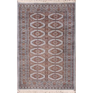 """Bokhara Pakistan Traditional Hand Knotted Wool Oriental Area Rug - 4'8"""" x 3'1"""""""