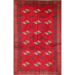 """Bokhara Balouch Traditional Classical Persian Hand Made Area Rug Red - 5'2"""" x 3'3"""""""