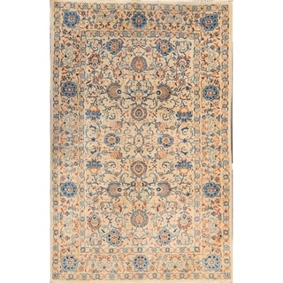 "Kashan Antique Persian Hand Made Wool Medallion Area Rug Beige - 6'9"" x 4'4"""