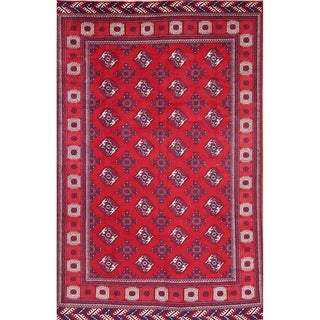 """Balouch Afghan Vintage Hand Made Traditional Oriental Area Rug - 9'9"""" x 6'3"""""""