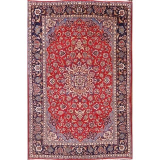 "Handmade Traditional Najafabad Floral Handmade Persian Area Rug - 11'9"" x 7'7"""