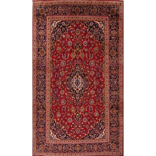 """Kashan Persian Floral Hand Made Traditional Medallion Area Rug - 12'11"""" x 7'10"""""""