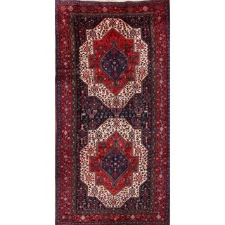 """Vintage Traditional Sanandaj Hand Knotted Persian Area Rug for - 9'2"""" x 4'7"""""""