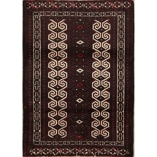 """Balouch Hand Knotted Woolen Persian Geometric Area Rug - 3'9"""" x 2'8"""""""