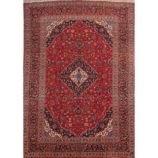 "Floral Kashan Handmade Wool Persian Medallion Area Rug - 13'8"" x 9'6"""