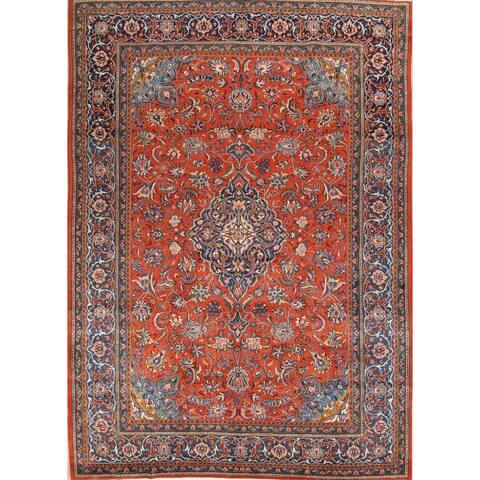 "Medallion Classical Sarouk Handmade Persian Vintage Area Rug - 13'1"" x 9'6"""