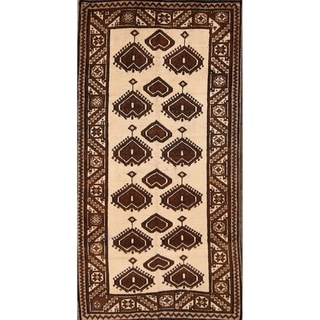"""Hand Knotted Wool Gabbeh Persian Traditional Vintage Area Rug - 6'9"""" x 3'6"""""""