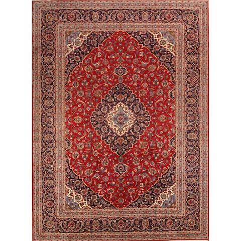 "Medallion Kashan Handmade Persian Vintage Classical Area Rug - 13'2"" x 9'7"""