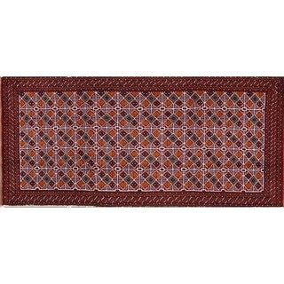 "Geometric Traditional Balouch Persian Hand Made Area Rug - 4'6"" x 2'1"""