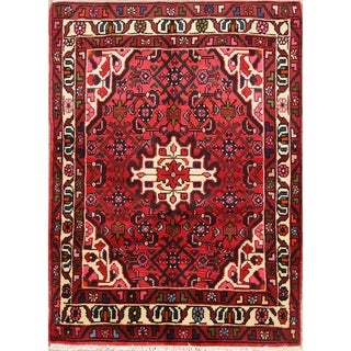 "Geometric Tribal Hamedan Handmade Woolen Tribal Persian Area Rug - 4'10"" x 3'6"""
