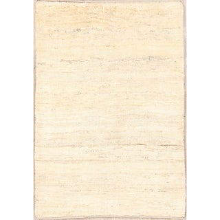 """Gabbeh Shiraz Hand Knotted Wool Solid Persian Modern Area Rug - 4'10"""" x 3'4"""""""
